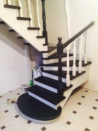 Изготовление и монтаж деревянных лестниц в дом на второй этаж на заказ