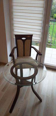 Stolik kawowy z krzesłem