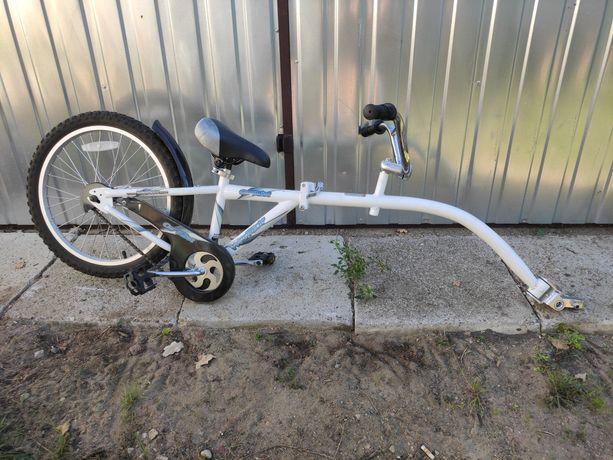 Przyczepka rowerowa riksza tandem dla dziecka