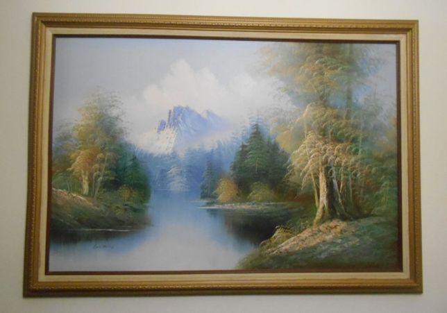 Grande quadro ORIGINAL do FAMOSO pintor Samuel George Enderby.