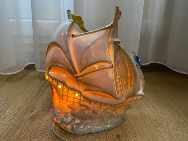 """Фарфоровый светильник-ночник """"Кораблик"""" ГДР."""