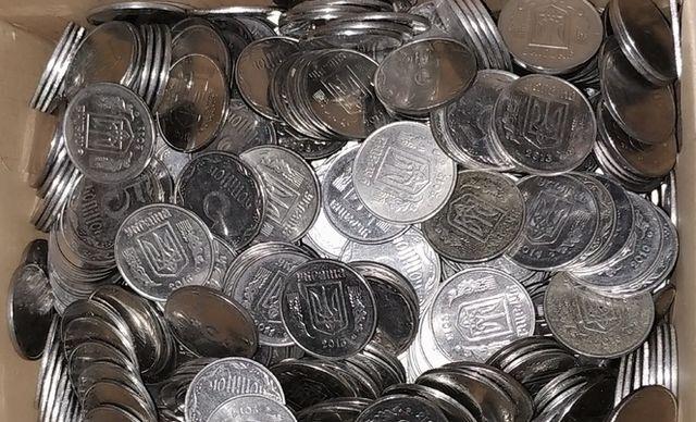 5 копеек Украина (года разные) - 100, 200, 300, 400, 500 монет