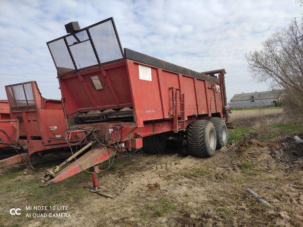 Rozrzutnik obornika Delaplace mouzon 16 ton . Wlasna hydraulika tandem