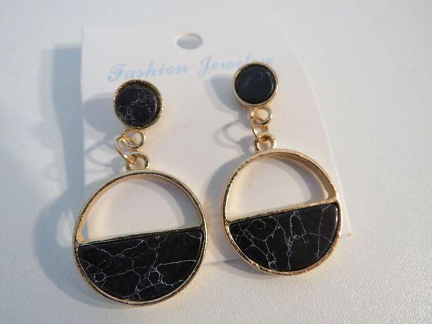 Nowe kolczyki marmurki drop earing nowoczesna biżuteria