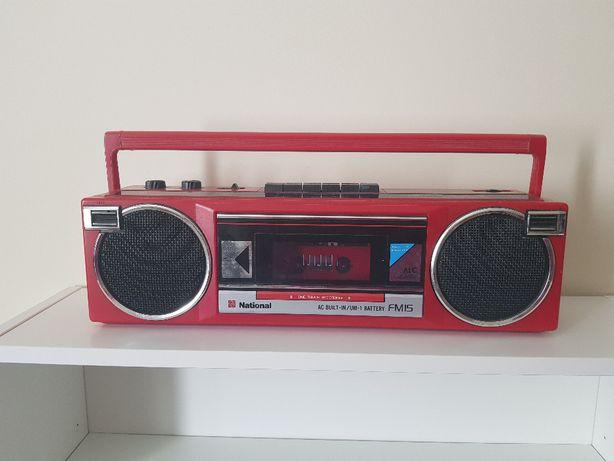 Radiomagnetofon National RX-FM15F Panasonic czerwony vintage