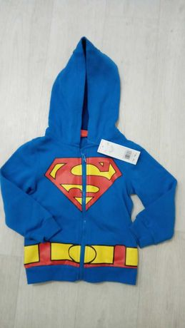 Кофта на мальчика супермен с накидкой