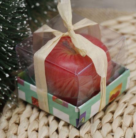Świeczka jabłko jesień wieniec adwentowy Boże Narodzenie christmas