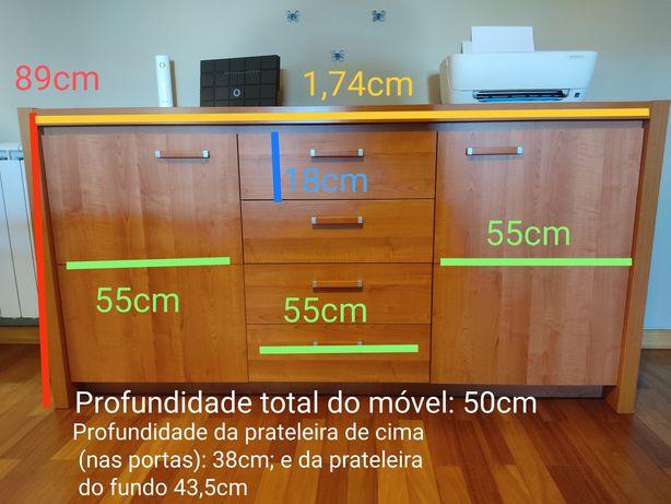 Aparador + móvel TV + mesa apoio