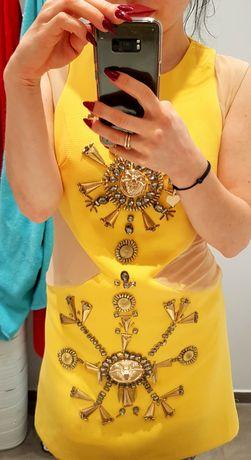 Sukienka żółta 36 versace