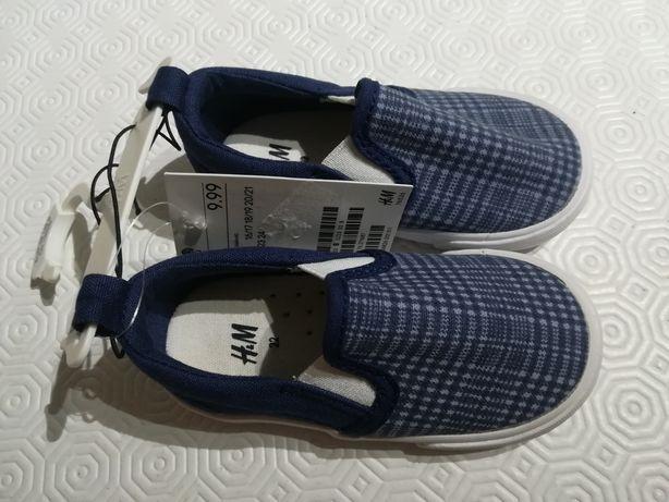 Alpercatas ténis tecido azul tamanho 22 NOVOS