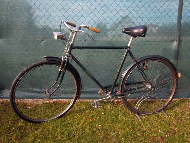 Zabytkowy rower Triumph, sprawny i kompletny.