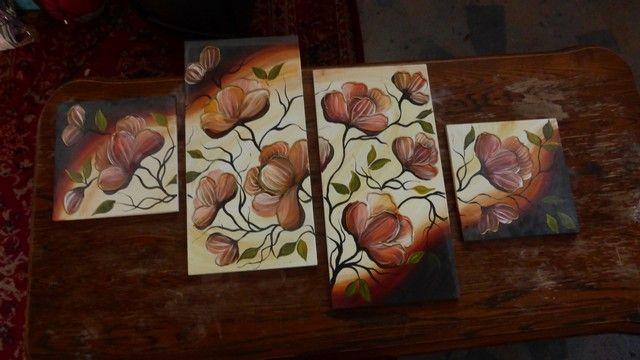Obraz ręcznie malowany na drewnie