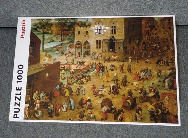 REZERWACJA PUZZLE 1000 Piatnik Bruegel Brueghel Zabawy Dziecięce