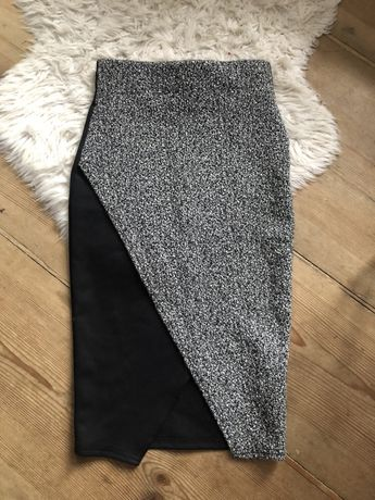 Asymetryczna spódnica midi ołówkowa S