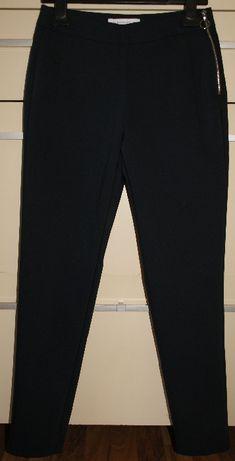Spodnie nowe damskie RESERVED granatowe cygaretki, rozmiar 34