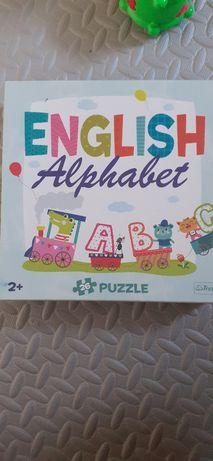 Puzzle alfabet że zwierzętami 2+