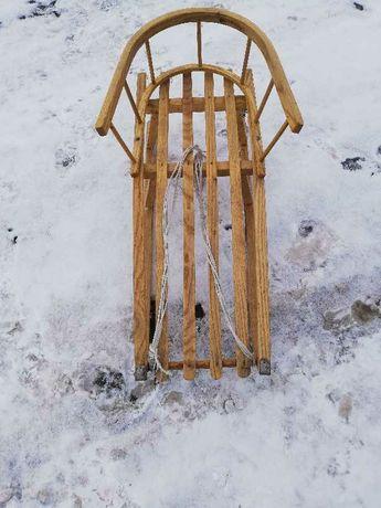 Sanki stan bardzo dobry drewniane z oparciem