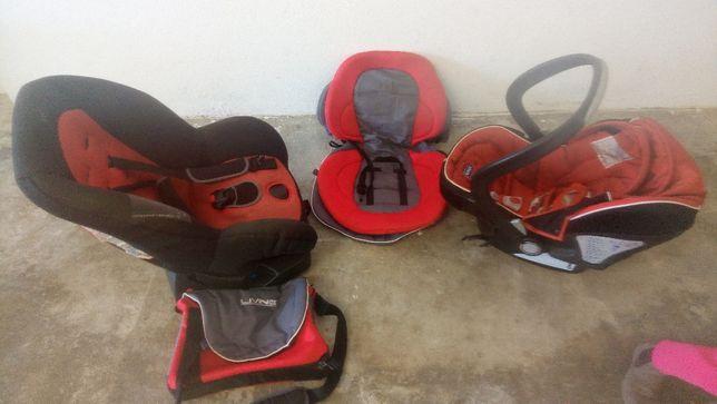 Cadeira mais ovo e carrinho de bébé