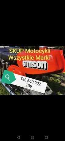 Skup motocykli motorow quad  simson mz s51 wsk shl komar jawa etz  cz