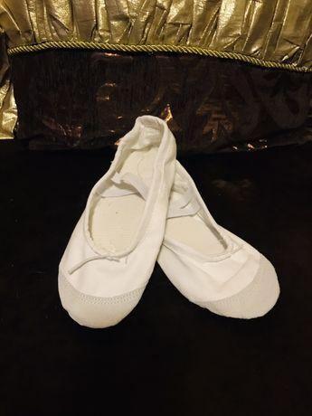Балетки для танцев белые новые