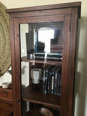 vitrine,  livreiro,  prateleiras,  estante, armario, rustico