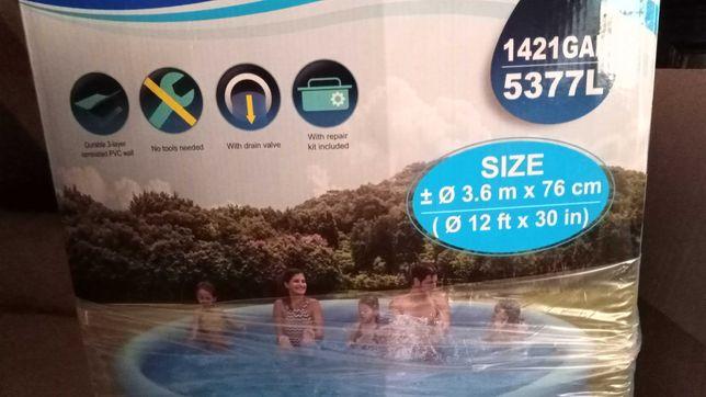 Duży basen ogrodowy Avenli 360*76cm rozporowy z kołnierzem