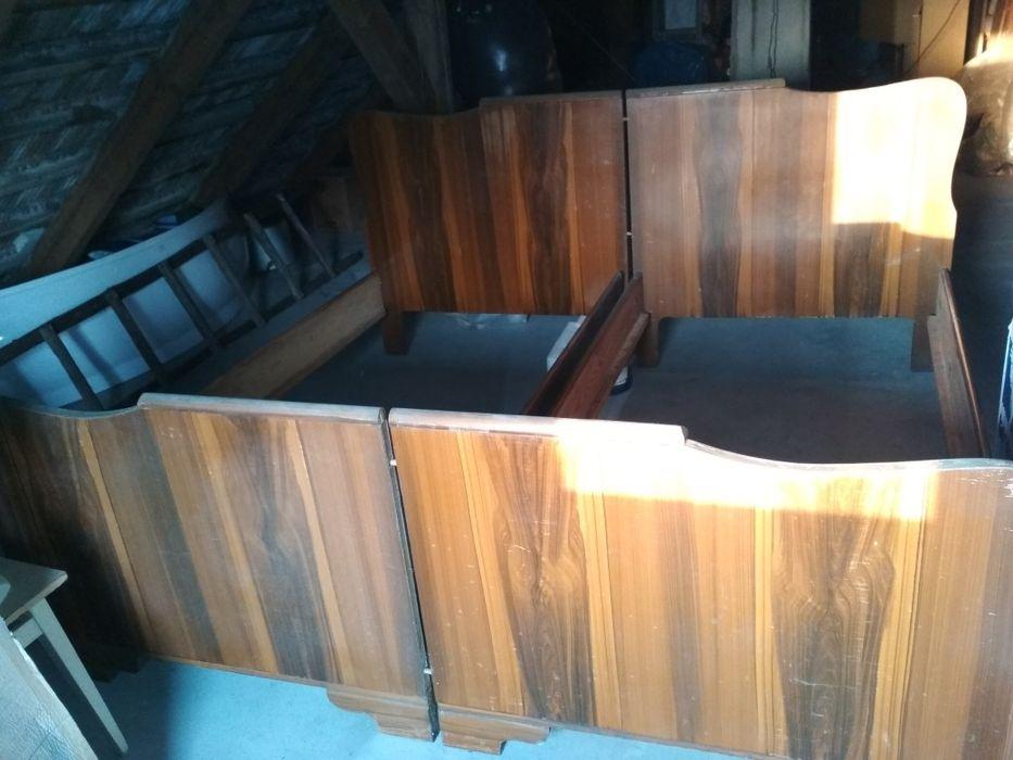 Łóżko łoże z epoki PRL vintage
