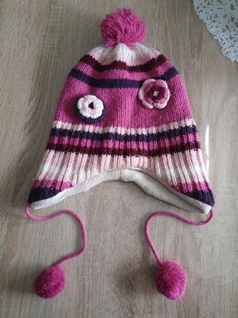Ciepła czapka dziewczęca