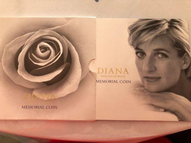 """Vendo Moeda 5 Pounds, """"DIANA Princess of Wales Memorial Coin"""""""