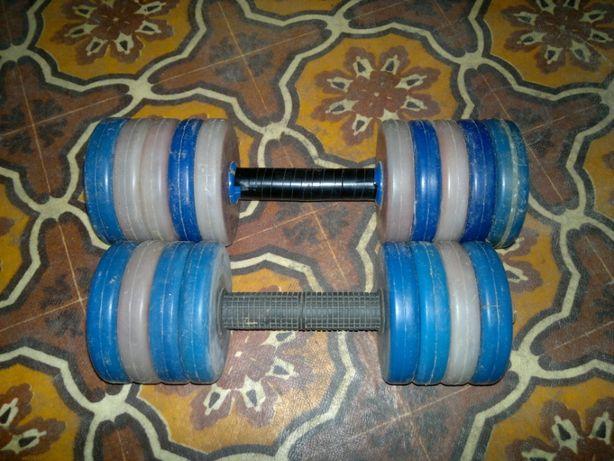 Гантели разборные пара 11-9 кг.Общий вес 20 кг.