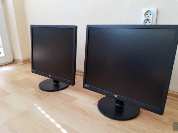 "Monitor Monitory AOC E960 19"" cali LED złącze DVI D-SUB (VGA) głośniki"