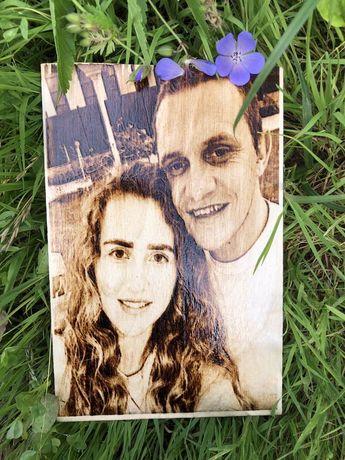 Випалюємо портрети на дереві по Вашим фото/подарунок/Выжигаем портреты