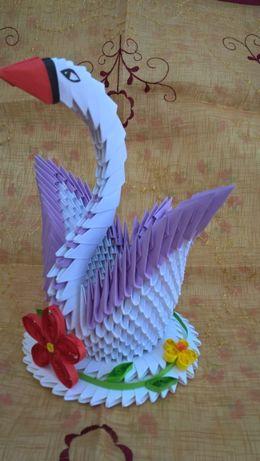 prezent na MIKOŁAJKI lub pod choinkę - łabędź origami rękodzieło