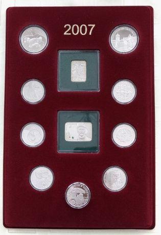 Kolekcja srebrnych monet rocznik 2007