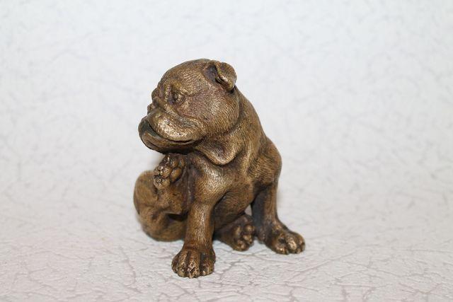 Бронзовая статуэтка собака,пес,друг человека