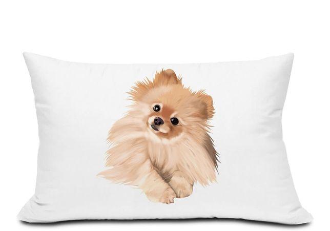 Poduszka pies pomeranian 40x60 wzory