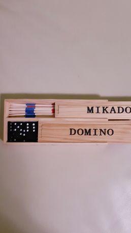 Dwie gry,domino i mikado