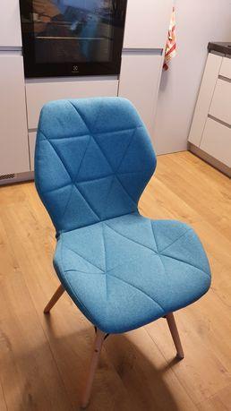 Nowoczesnej, turkusowe krzesła stołowe 4 szt.