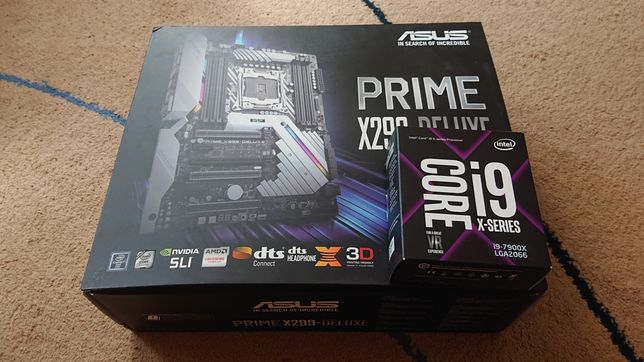 Prime X299-Deluxe + I9-7900x (доплата)