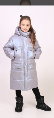 Куртка-пальто для девочки на возраст 8-9 лет