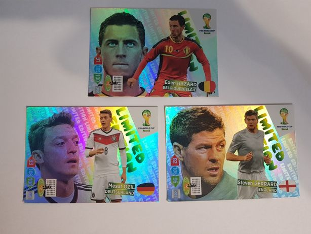 Karty LIMITED EDITION Fifa World Cup Brasil 2014 Panini