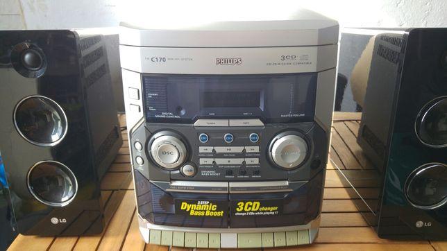 Mini-hifi Philips c 170 3cd changer
