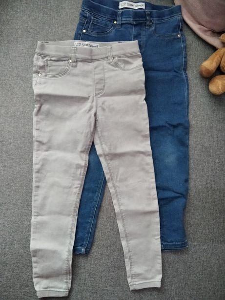Spodnie Skinny dwie pary rozmiar 122