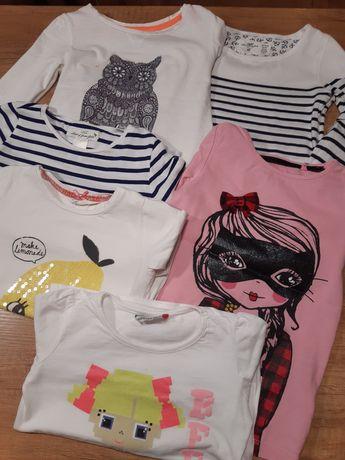 Koszulki z długim rękawem H&M i inne 110/116