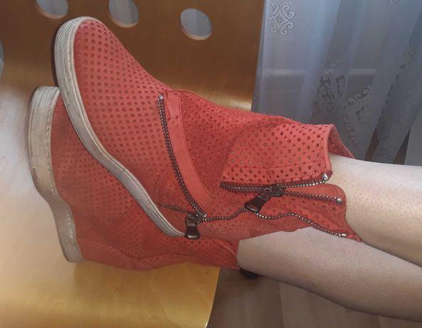 CIARINI Botki sneakersy rozm 40 skorzane