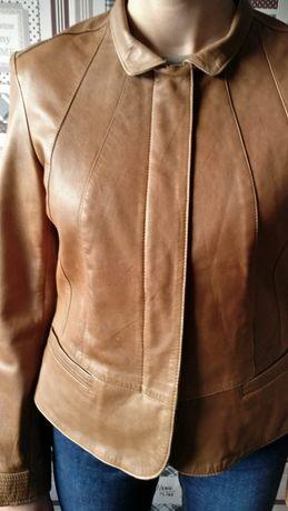 Brązowa kurtka, skóra naturalna NEXT rozmiar UK 12