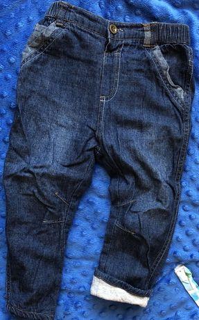 George 86/92 spodnie na podszewce