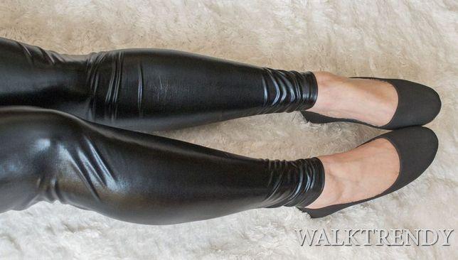 Klasyczne, czarne balerinki gładkie ekoskórka wyprzedaż rozmiary 36-39