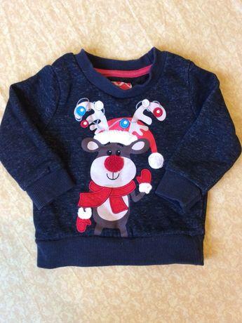 Новорічний светр кофта світшот Новогодний свитер Rebel 9-12
