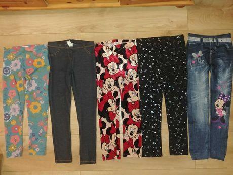 Jak nowe i nowe jegginsy legginsy spodnie dla dziewczynki 122